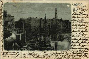 CPA AK Hamburg- Fleet bei der Lollenbrucke GERMANY (902603)
