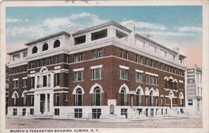 New York Elmira Women's Federation Building 1920