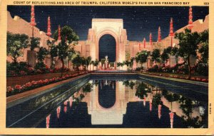 California San Francosco Court Of Reflections and Arch Of Triumph California ...