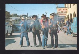 OATMAN ARIZONA ROUTE 66 GUNFIGHTER DOWNTOWN STREET SCENE OLD POSTCARD