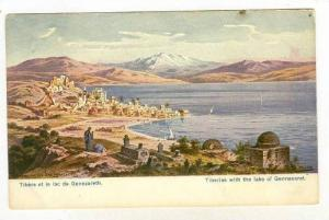 Tiberias with the lake of Gennesaret, Israel, PU-1908
