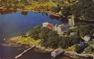 Boothbay Harbor Maine Oake Grove Hotel Aerial View Vintage Postcard JA4741444