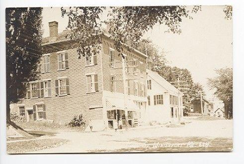 Winterport ME Main Street Store Front RPPC Real Photo Postcard