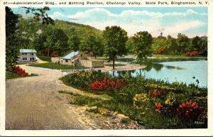 New York Binghamton Administration Building & Bathing Pavilion Chenango Valle...