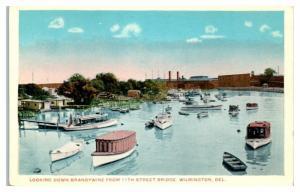 Looking Down Brandywine from 11th Street Bridge, Wilmington, DE Postcard