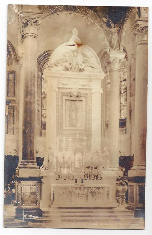 RP Mexico Virgin de Guadalupe Church Interior Altar Yadez
