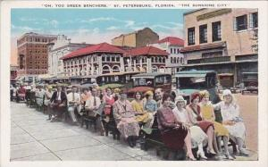 Florida Saint Petersburg The Sunshine City Oh You Green Benchers