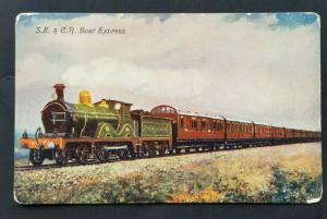 Mint Vintage SE & CR Boat Express Real Picture Color Postcard