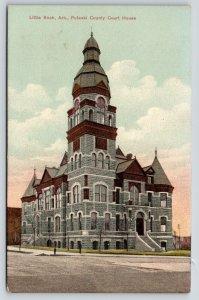 Little Rock Arkansas~Pulaski County Court House~Romanesque Revival~1910 Postcard