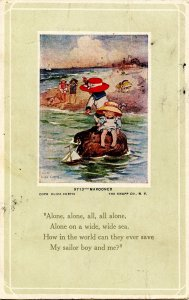 Marooned    Artist: Eliza Curtis.  *RPO- Lincoln & Falls City RR    (card h...