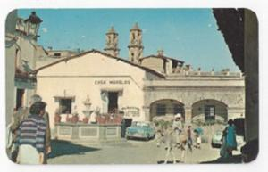 Mexico Taxco Plazuela y Fuente Colonial Fountain Square 1968 Vintage Postcard