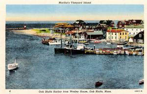 MA - Martha's Vineyard Island. Oak Bluffs. The Harbor from Wesley House