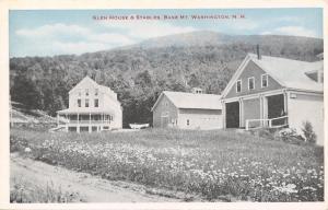 Mt Washington Base New Hampshire~Glen House Hotel~Stables~1920s Postcard