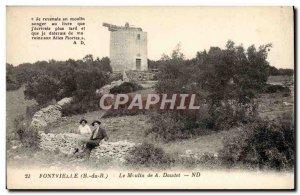 Old Postcard Fontvieille Moulin A Daudet