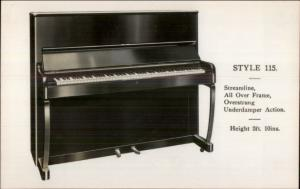 Streamline Style 115 Piano Advert Real Photo Postcard