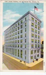 Pennsylvania Chester Crozier Building 1953 Curteich