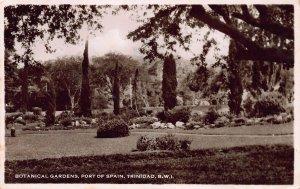 Botanical Gardens, Port of Spain, Trinidad, B. W. I., Postcard, Used in 1947