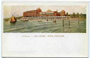Hotel Excelsior Lido Venise Venice Italy 1910c postcard