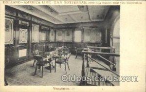 T.S.S. Rotterdam,Verandah Ship Interiors, Unused