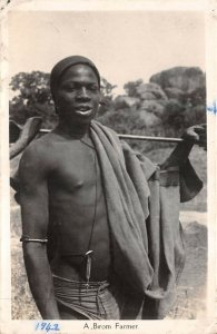 Lot119 a birom farmer nigeria africa types folklore real photo