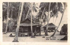 New Guinea Native Huts  Scenic View Real Photo Antique Postcard J66622
