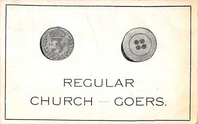 Regular Church Goers, Coin, Button, The Unique Series 1913