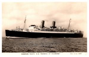 S.S. Duchess of Richmond , Canadian Pacific line , RPC