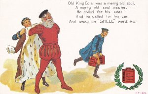 Old King Cole Shell Petrol Advertising Postcard
