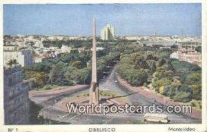 Obelisco Montevideo Uruguay, South America 1914
