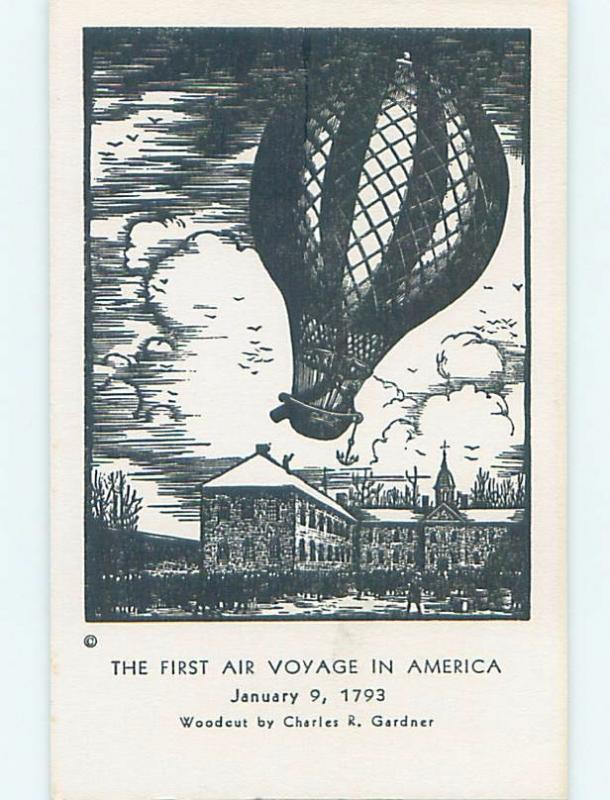 Pre-1980 FIRST HOT AIR BALLOON VOYAGE IN AMERICA Philadelphia PA hn4026-12