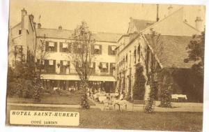 Rambouillet, France, 1910s ; Hotel Saint-Hubert