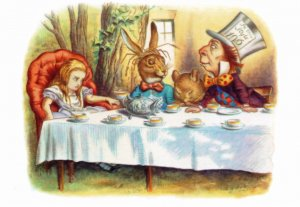 Alice In Wonderland Mad Hatters Tea Party 1911 Book Postcard