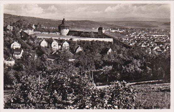 RP, Blick Auf Die Burg, Esslingen (Baden-Wurttemberg), Germany, 1920-1940s