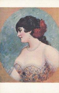 Woman Head portrait , 1900-10s ; #4A ; L. BEROUD