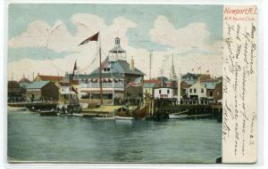 New York Yacht Club Newport Rhode Island 1905 postcard