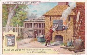 Liebig Vintage Trade Card S479 Hansel & Gretel No 5 Hexe in den Ofen