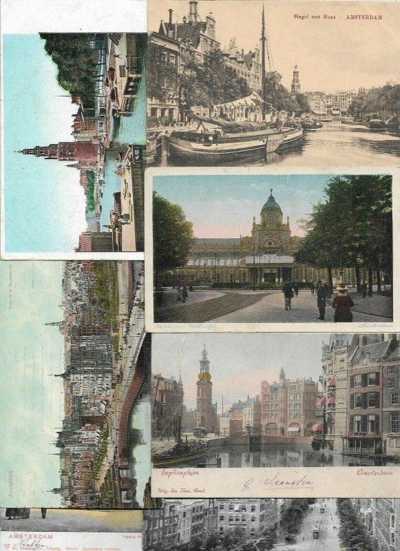 Netherlands - Nederland Amsterdam Postcard Lot of 30 -   01.01