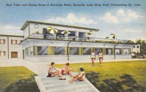 Ken-Lake Hotel Dining Room Kentucky Lake State Park linen postcard