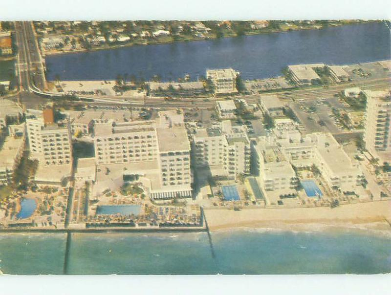 Pre-1980 AERIAL VIEW OF OCEANFRONT HOTEL AREA Miami Beach Florida FL HQ0936