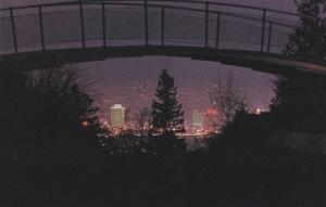 Night View, Abridging Vancouver From Little Mountain, B.C. Hydro Building, Va...