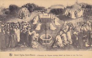 Belgium Gand Aglise Saint Bavon L'Adoration de l'Agneau mystique