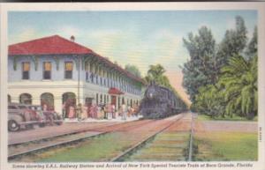 Florida Boca Grande S A L Railway Station & Arrival Of New York Special Touri...