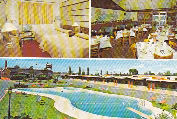 Canada St Hubert Motel Swimming Pool St Hubert Quebec / HipPostcard