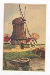Art postcard, Hollandse Molens, Netherlands, 20-40s