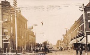 Oelwein IA~Kerwin's~Hardy Real Estate~Pole Clock~Bought 50 Cattle RPPC 1910