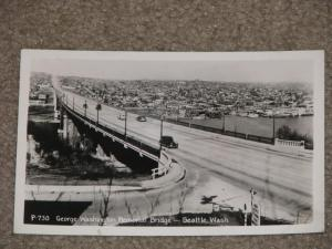 RPPC, George Washington Memorial Bridge, Seattle Wash., 1940`s