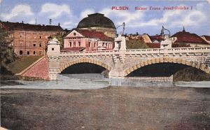 BC60833 Pilsen Kaiser Franz Josef Brucke   czech republic