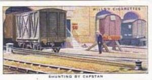 Wills Vintage Cigarette Card Railway Equipment 1938 No 43 Shunting By Capstan