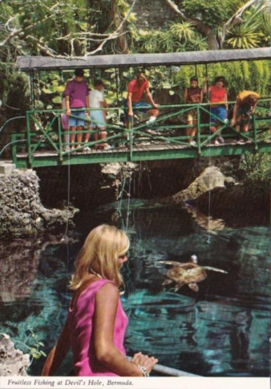 Bermuda Fruitless Fishing At Devil's Hole
