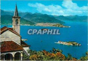 Postcard Modern Lake Maggiore Three Islands and Pallanza